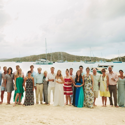 Wedding Party at Bitter End Yacht Club